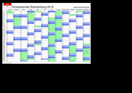 jahreskalender, ferienkalender: brandenburg