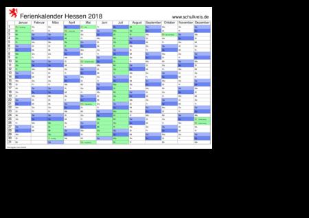 jahreskalender, ferienkalender: hessen
