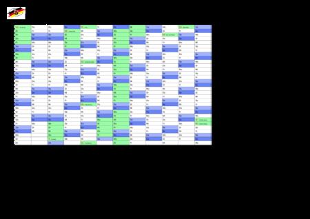 jahreskalender, ferienkalender: rheinland-pfalz