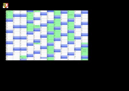 jahreskalender, ferienkalender: schleswig-holstein