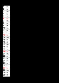 Monatskalender Juni 2021 - Monats-Terminkalender kostenlos ...